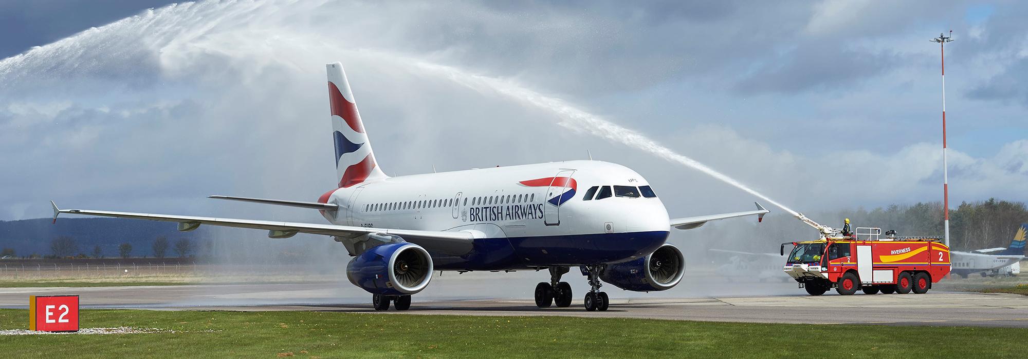 Heathrow BA first flight, Inverness Airport 3/5/16